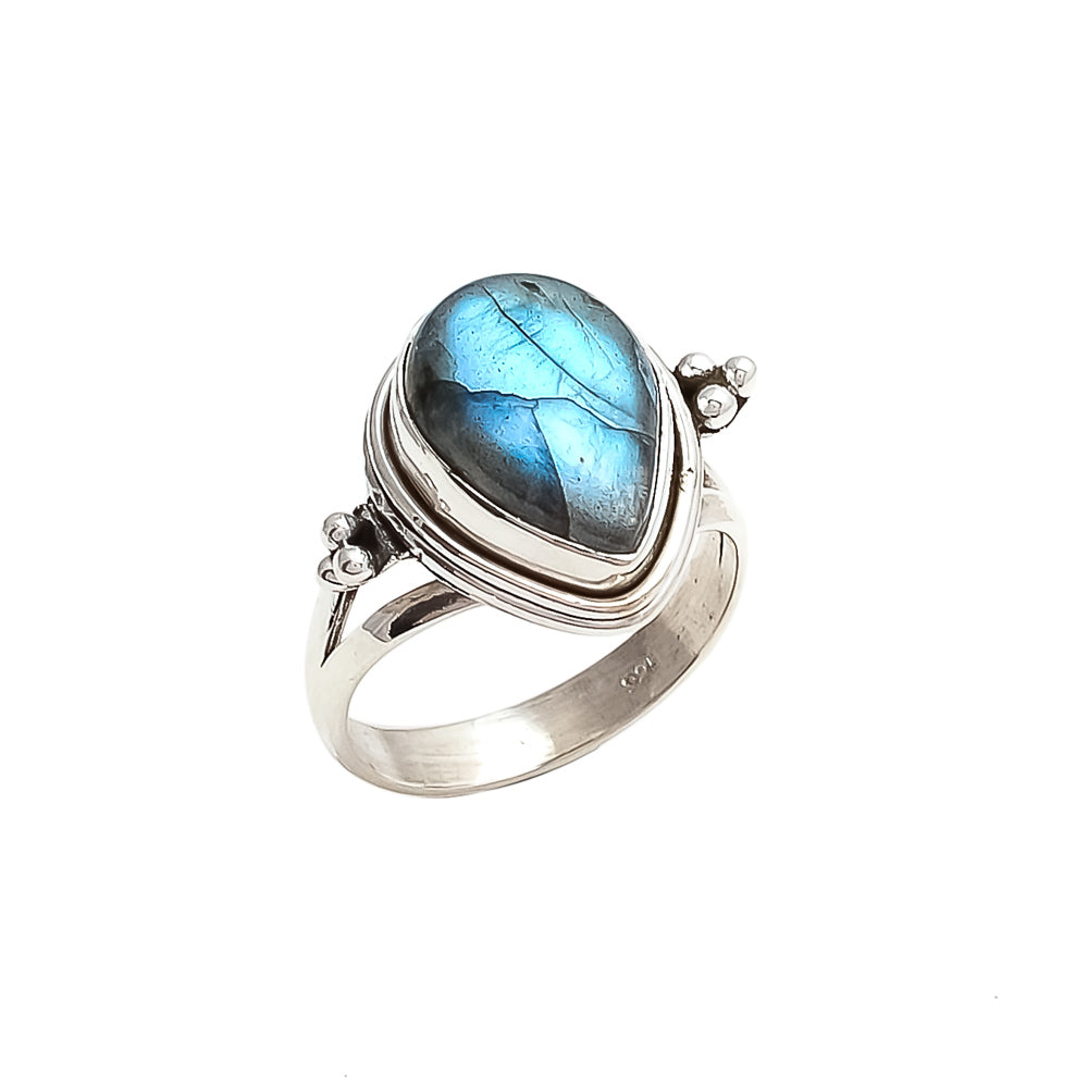 The Bedouin Collective - Luna Ring -  Labradorite