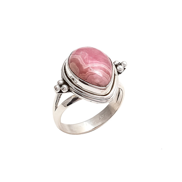 THE BEDOUIN COLLECTIVE - Luna Ring - Rhodochrosite