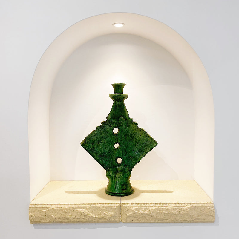 Tamegroute Green Triangle Candle Holders