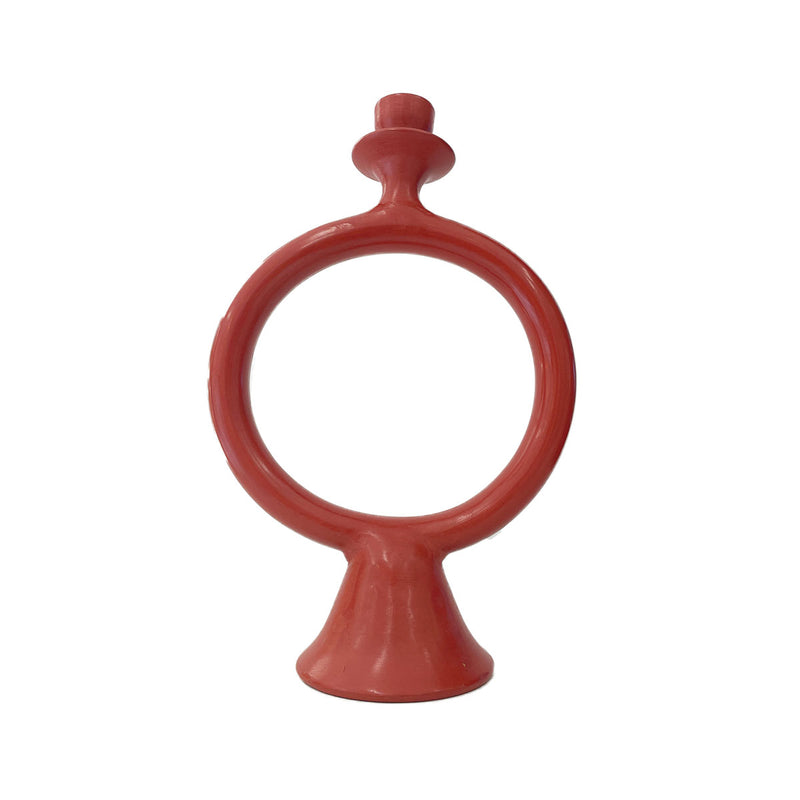 Tadelakt Ring Candle Holder Marsala