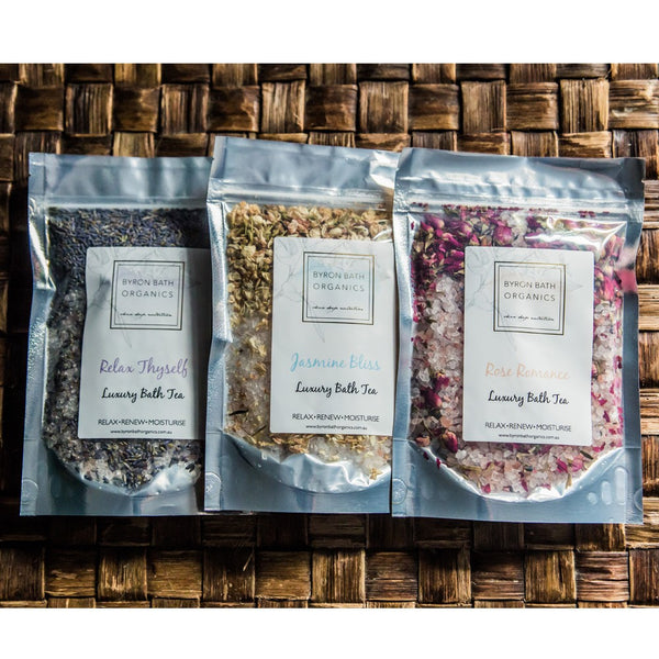BYRON BATH ORGANICS - Bath Tea (assorted scents)