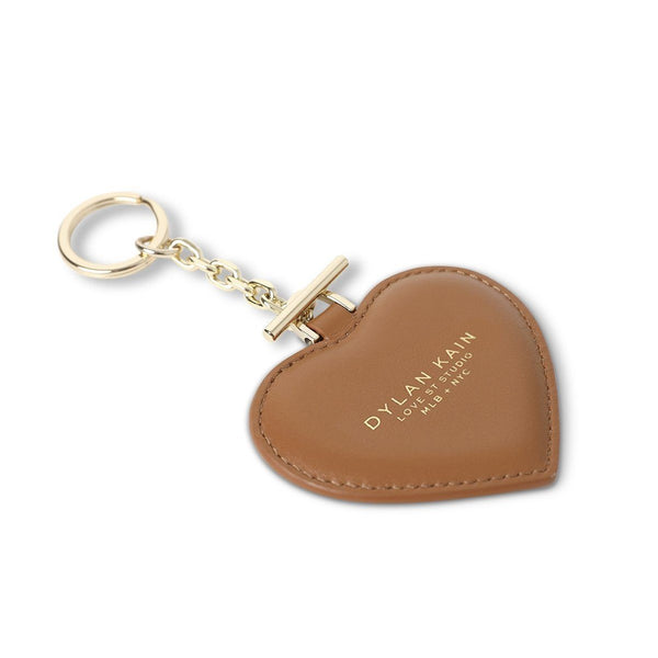 Dylan Kain Heart Keychain Tan Light Gold