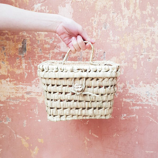 CHABI CHIC - Mini Palm Tree Picnic Basket