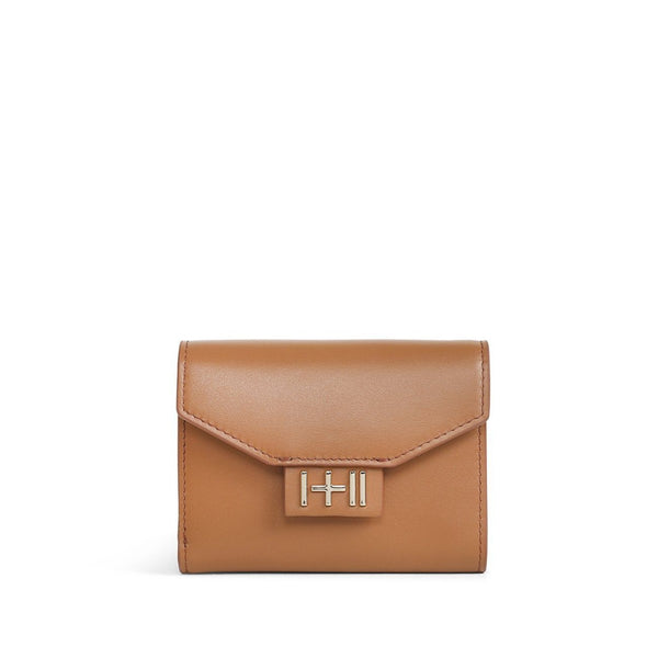 The Helena Wallet Tan Light Gold