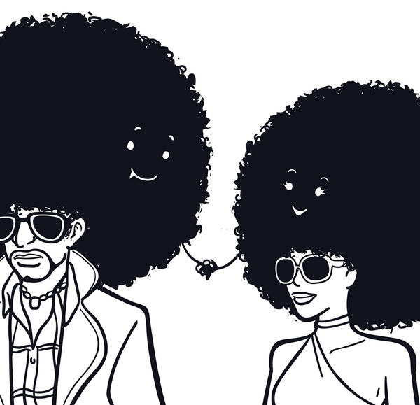 Afro Couple - Art Print