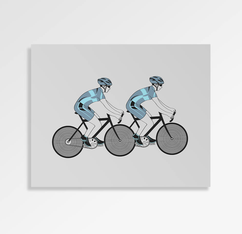 Cycling Illusion - Art Print