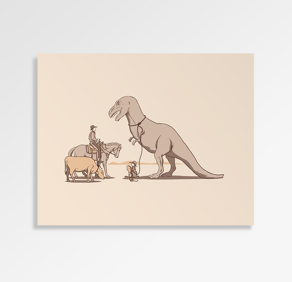 Dad, I Got A Big One - Art Print
