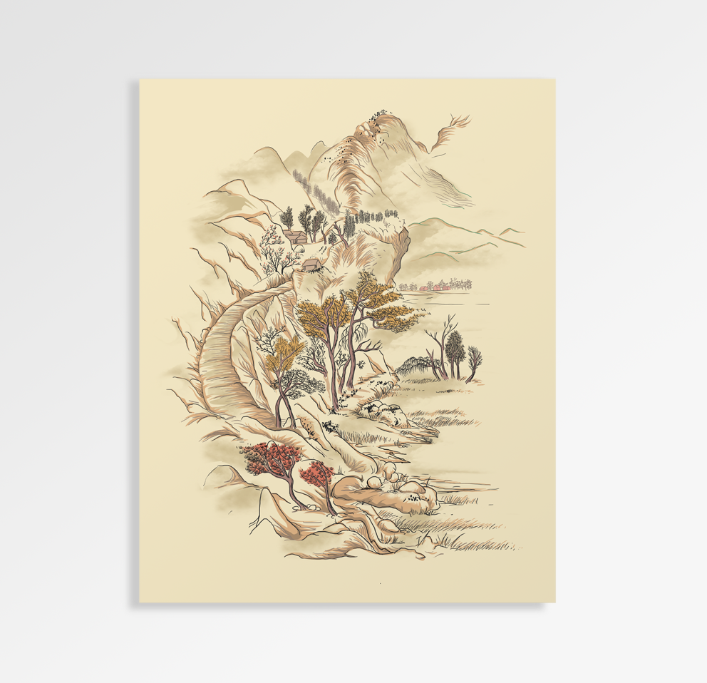Feng Shui Dragon - Art Print