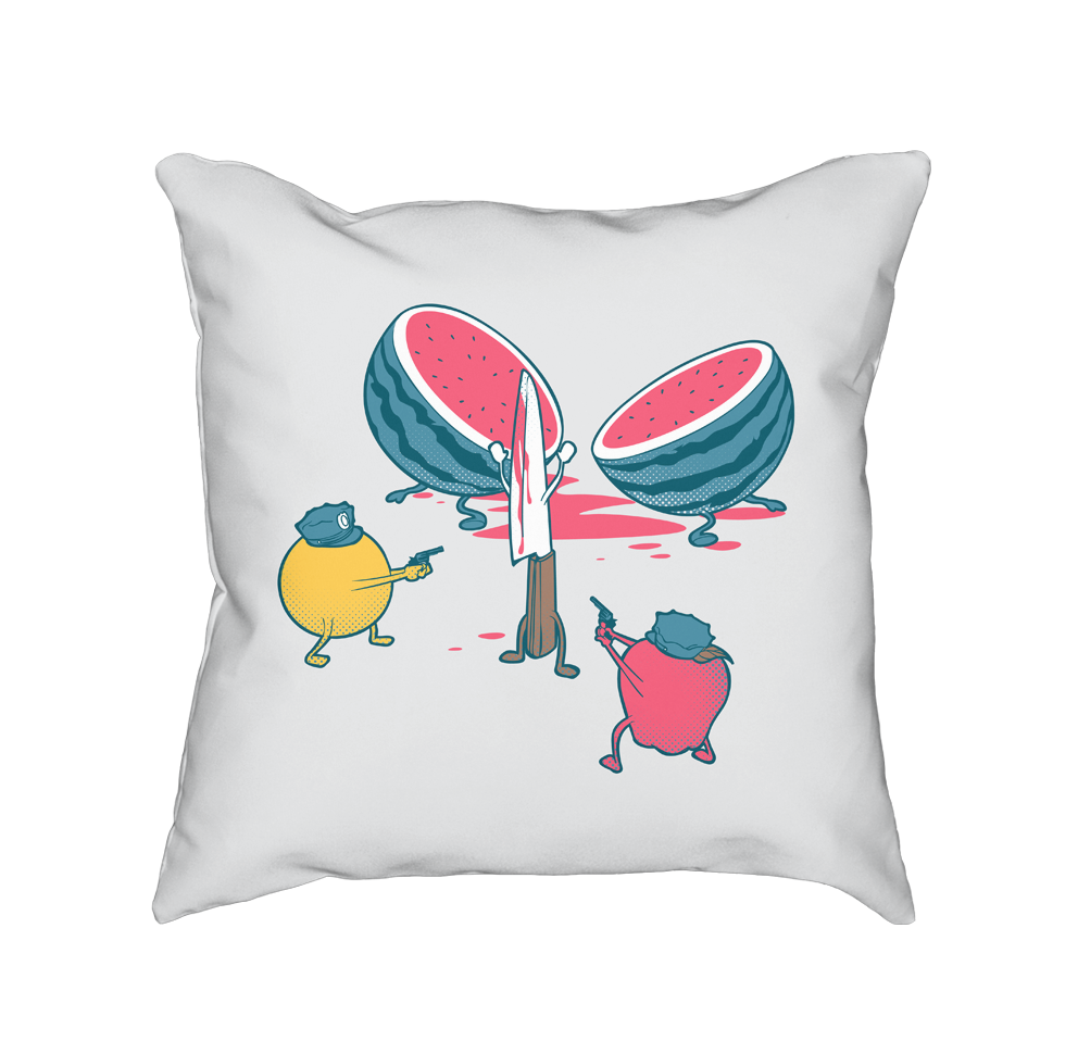 Freeze!! - Throw Pillow