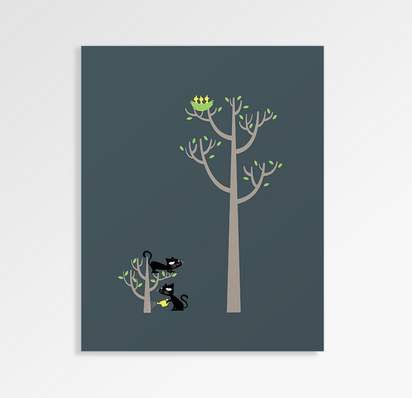 Growing a Plant a For Lunch - Art Print