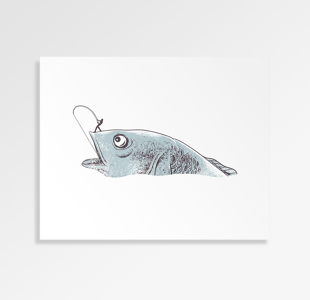 Hardcore Fishing - Art Print