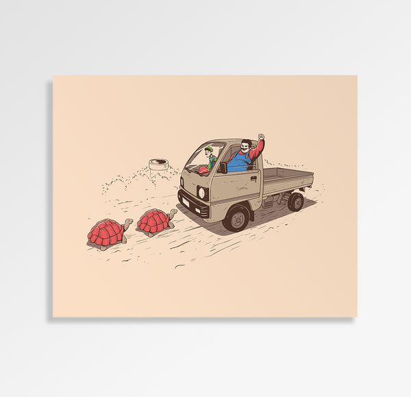 Just Like A Video Game - Art Print