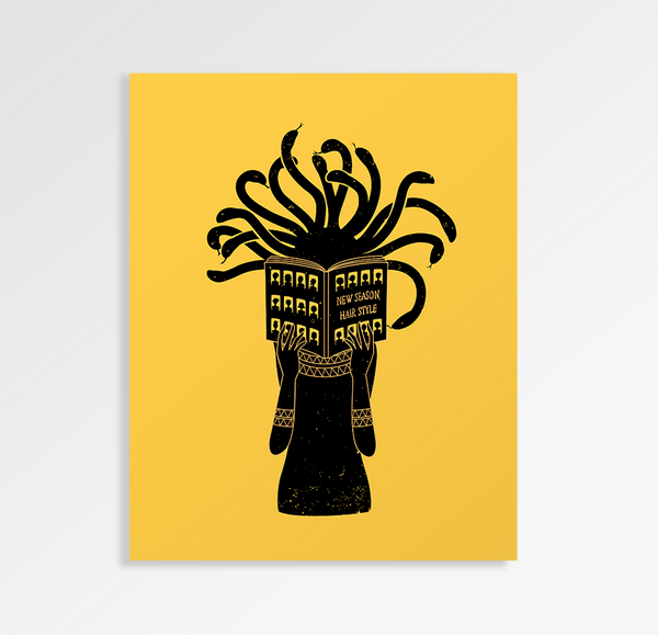 Looking For New Hair Style - Art Print
