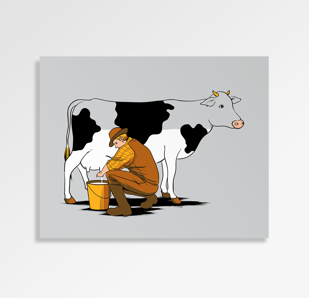 Milking Out - Art Print