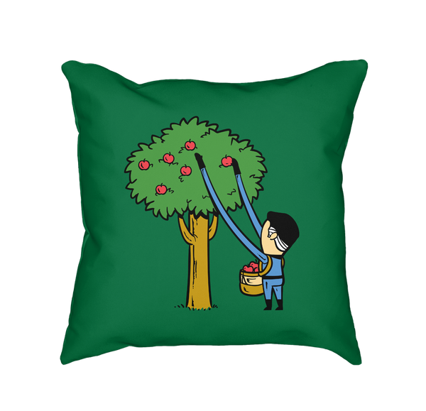 Part Time Job Apple Farm - Throw Pillow