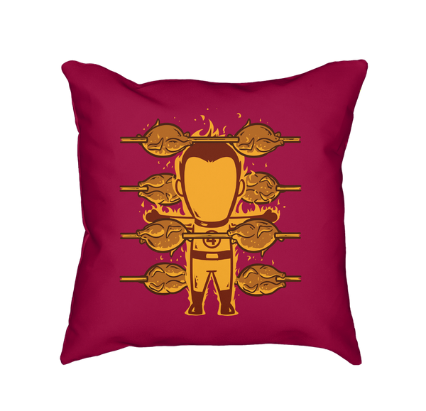 Part Time Job Roasted Chicken Shop - Throw Pillow