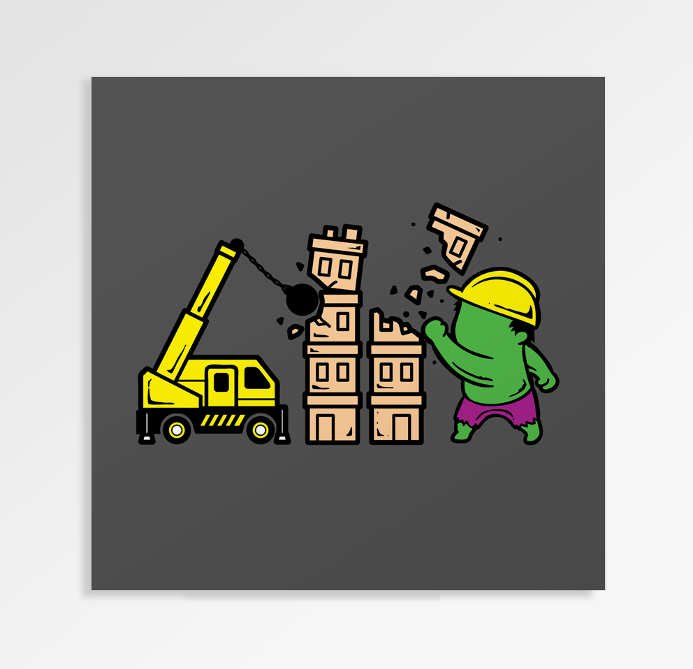Part Time Job Construction - Art Print