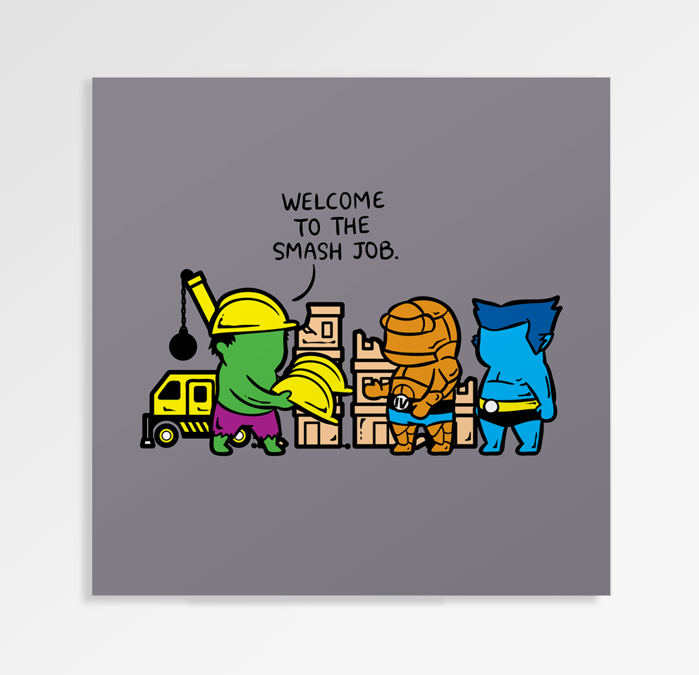 Part Time Job Constructions - Art Print
