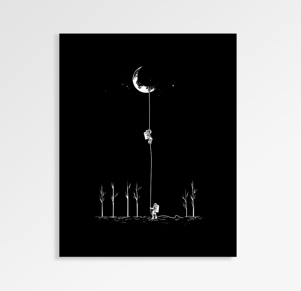 Reach For The Moon - Art Print