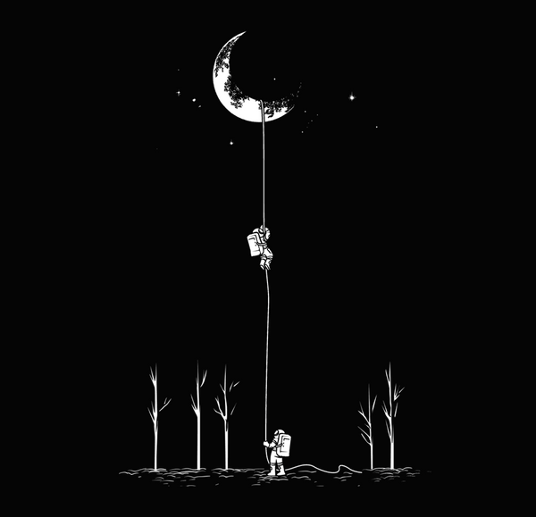 Reach For The Moon - Tees