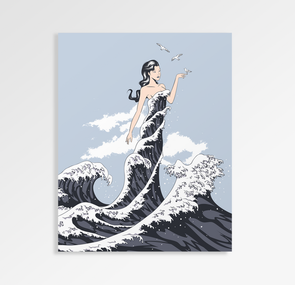 Wave Dress - Art Print