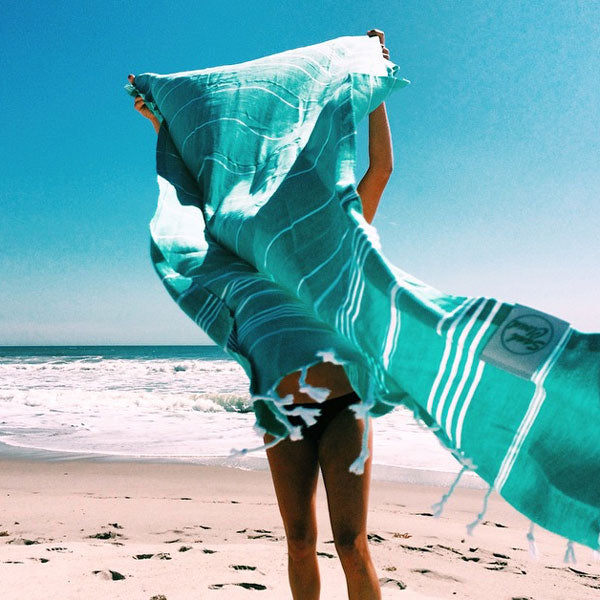 XL beach blanket seafoam