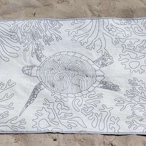 Black Sea Turtle Reef Towel - Sand Cloud