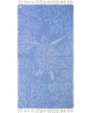 Blue Sea Turtle Reef Towel