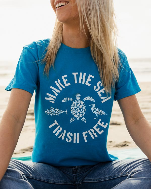 Sapphire Blue Make The Sea Trash Free