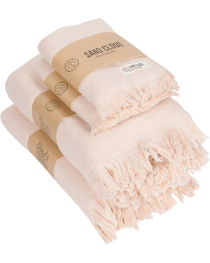 Blush Bath Hand Towel Bundle - 4 Pack