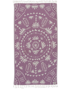 Boho Towel Purple