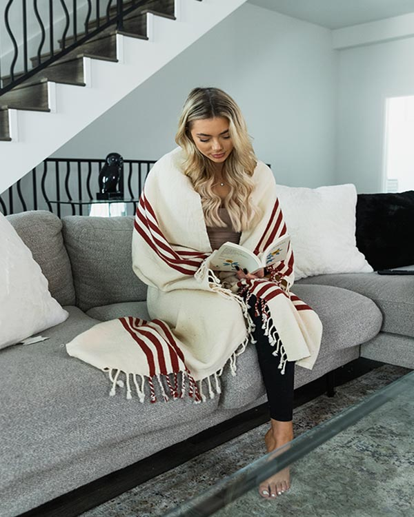 Cape Cod - Burgundy XL Plus Blanket