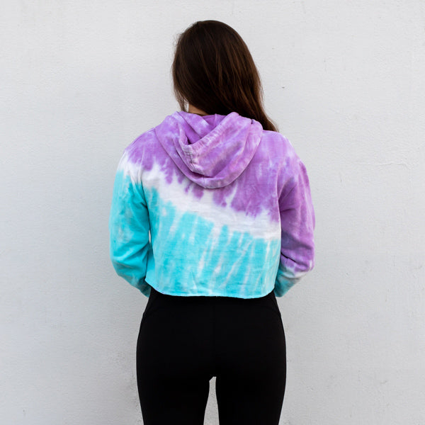 Cotton Candy Sand Cloud Stripes Crop Top Hoodie - Sand Cloud