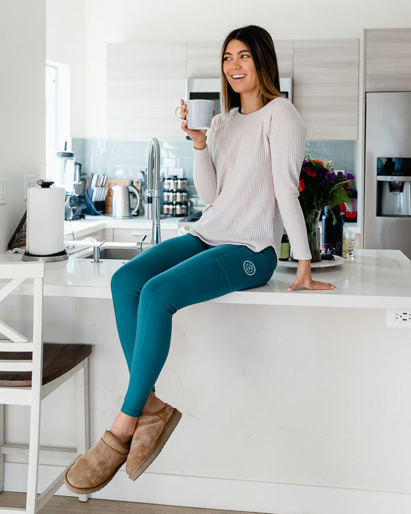 Deep Teal Eco Pocket Leggings