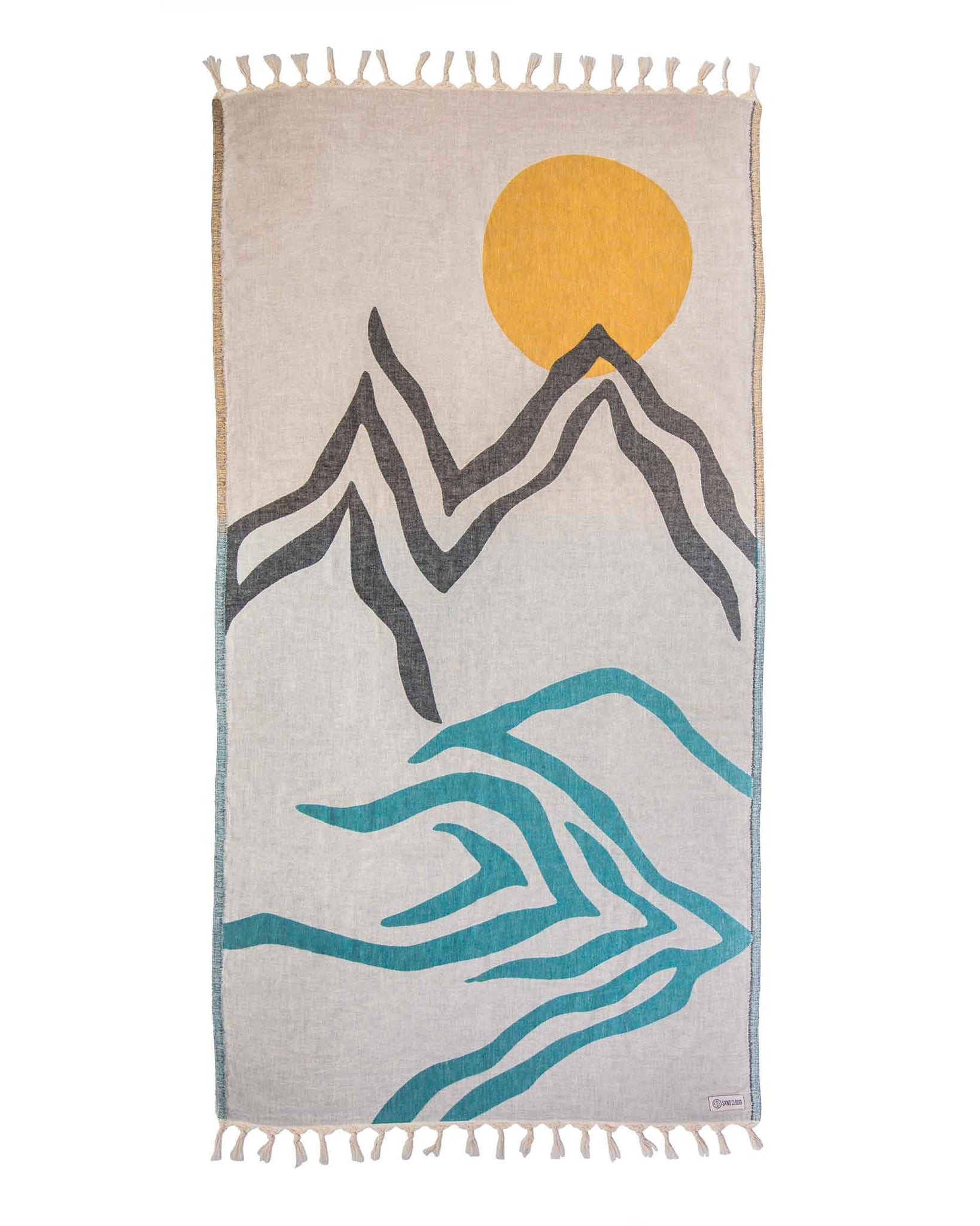 Desert River Mountain Towel