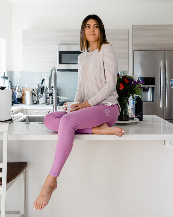 Dusty Lavender Eco Pocket Leggings