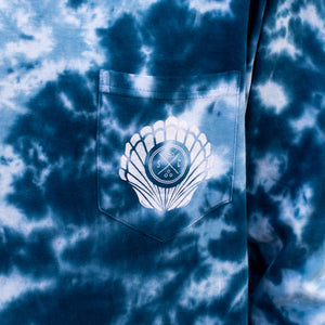 Blue Acid Wash Sea Shell Sand Cloud Long Sleeve - Sand Cloud