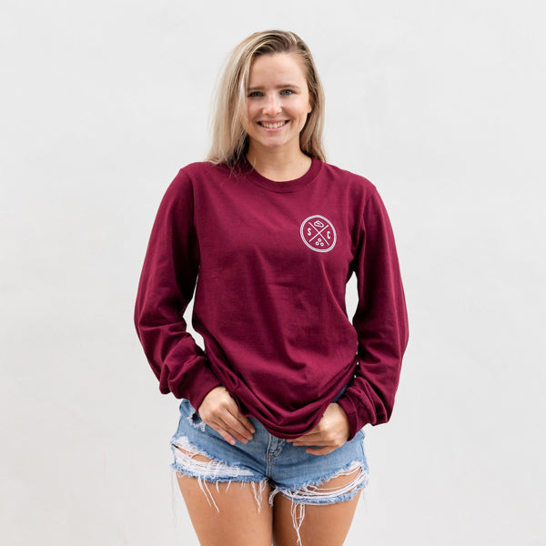 Burgundy Pumpkin Whale Tail Long Sleeve - Sand Cloud