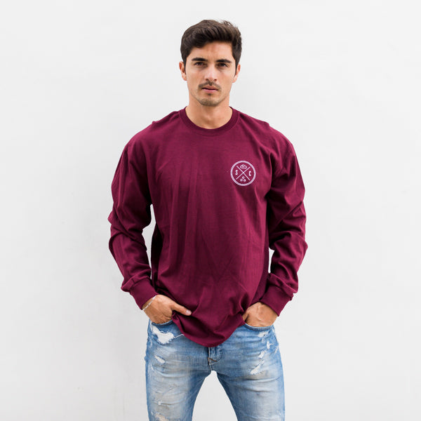 Burgundy Sand Cloud Whale Tail Men's Long Sleeve - Sand Cloud