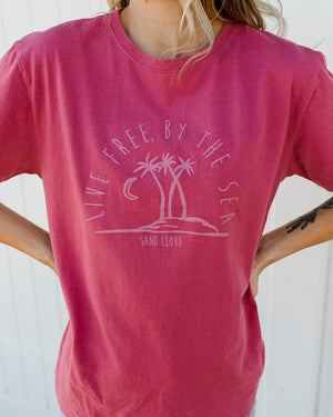 Live Free by the Sea Eco Tee