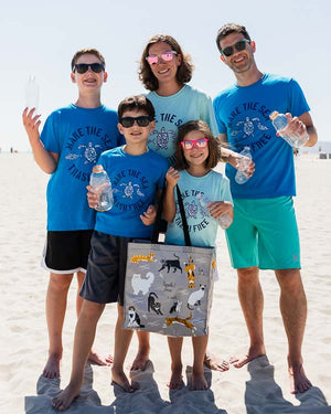 Make The Sea Trash Free Recycled Kids Tee
