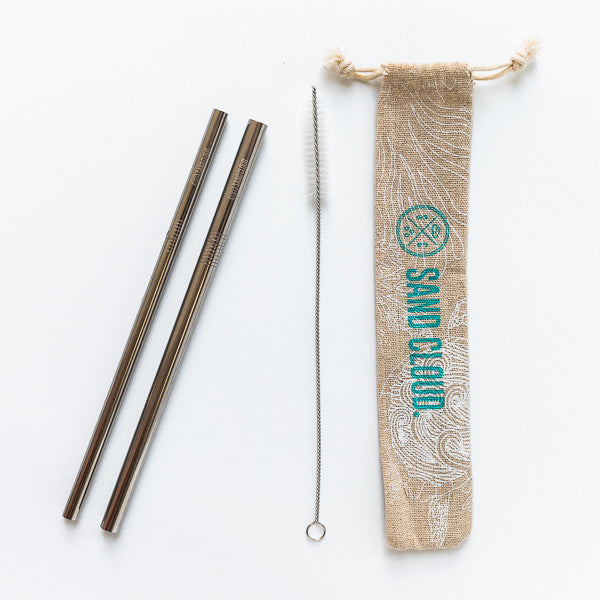 Multi-Size Metal Straw Pack