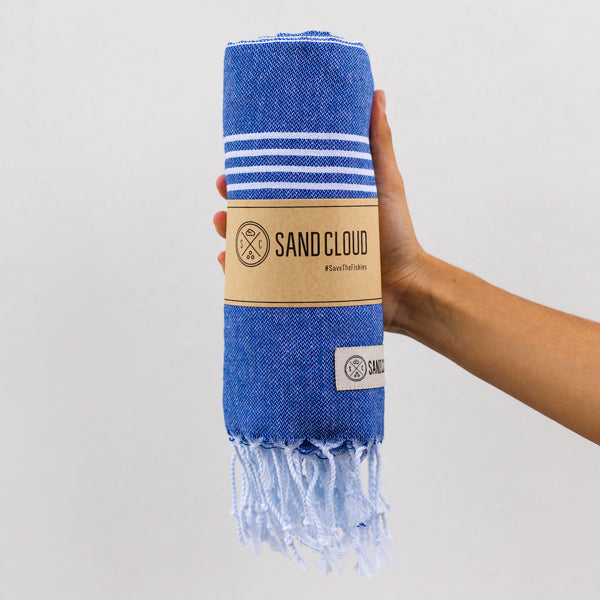 True Blue Classic Stripes Recycled Towel