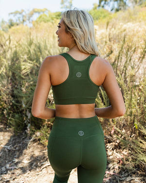 Olive Eco High Waist Leggings