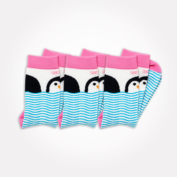 3 Pack Penguin Socks