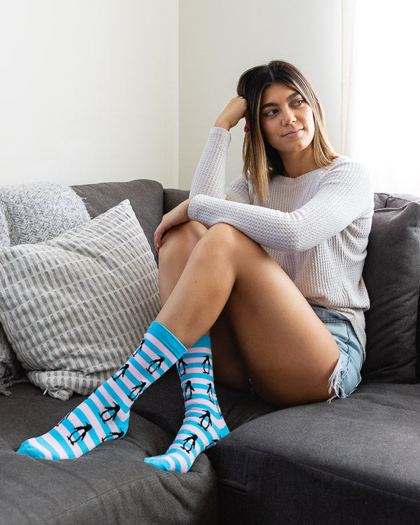 Penguin Striped Socks
