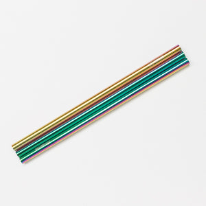 Rainbow Metal Straw Straight - 3 Pack - Sand Cloud