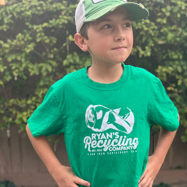 Ryan's Recycling Green Kids Tee