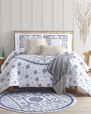 Medallion Navy Comforter Set