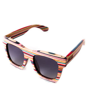 Colored Wood Frame Sunglasses